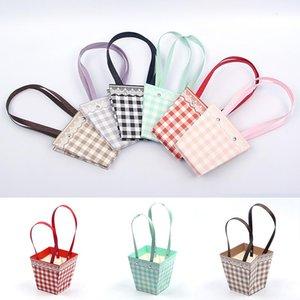 Dantel Desen Çiçekçi Taze Çiçek Taşıyıcı Çanta Taşınabilir Katlanabilir Ambalaj Kağıt Buket Sarma Malzemeleri Sepet Hediye Paketi