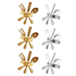 6Pcs El Table Western-Style Knife And Fork Spoon Napkin Buckle Ring Cloth Towel Rings