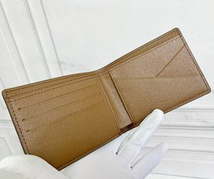 Luxury designer short wallet high quality PU leather ladies coin purse fashion card holder with original box and dust bag