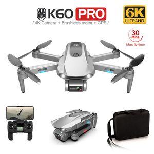 K60 Pro RC 무인 항공기 5G GPS WIFI FPV 6K ESC HD 카메라 2 축 방지 쉐이크 짐벌 브러시리스 전이 헬리콥터 Quadrocopter