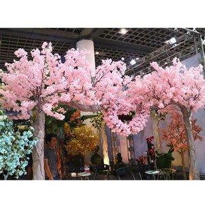 Artificial Cherry Blossom Tree 120 Heads Vertical Silk Trees DIY Wedding Christmas Valentine's Party Fake Flowers Decor Decorative & Wreaths