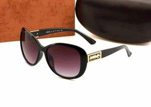 2272 Erkekler Klasik Tasarım Güneş Gözlüğü Moda Oval Çerçeve Kaplama UV400 Lens Karbon Fiber Bacaklar Yaz Tarzı Gözlük Kutusu Ile