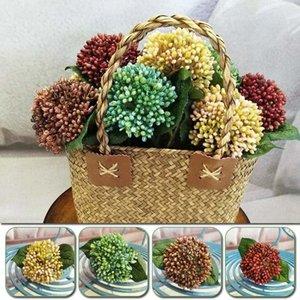 Artesanía artificial baya flores ramo fruta planta hoja hoja fiesta decoración diy scrapbooking guirnalda artesanía falsa corona decorativa