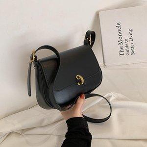Модные и простые дамы Маленькая сумка 2021 одно плечо Западный стиль Женский посланник высококачественный PU квадратный крест