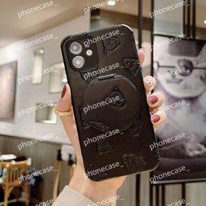 Lüks Marka Tasarımcısı Lüks Leopar Kafası PU Deri Ayna ile Phonecase Kılıf Telefon1111111 Için Pro Prokax Mini X / XS / XR 7/8 Artı 6 Toptancı JDJ 1104