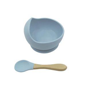 Детская силиконовая чаша ложка материнской детской кормления столовые приборы всасывающая чашка комплементарная еда шара капельница силиконовая чаша набор EEB4478