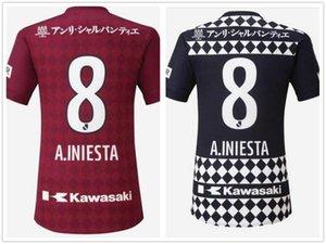 Personalizado 2021 Vissel Vermelho Home Tailandês Qualidade de Futebol Jerseys Custome Yakuda 7 David Villa 8 A.iniesta 10 Podolski 6 Samper Uniform Futebol