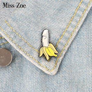바나나 에나멜 핀 만화 과일 브로치 버튼 친구를위한 배지 선물 옷깃 핀 버클 재미 있은 보석 옷 청바지 캡 가방