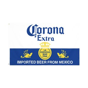 factory direct wholesale double stitched 3x5fts 90*150cm corona Beer Flag life flag for decoration GWD5680