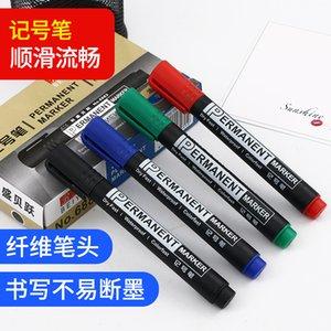 Office School Supplies writing marker oil based waterproof marker 10 fiber carbon single head markers