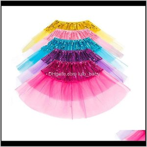 Girls Party Bling Sequin Princess Skirts Children Girl Shine Tulle Ballet Dancewear Short Cake Dance Skirt C2516 Txmxd Tutu Dress Xtpve