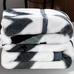 Comforters & Sets Soft Warm Flannel Fleece Fur Blanket Printing Decor For Children Winter Couch Cover Bed Sofa Machine Wash Plush Bedspread
