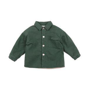 Shirts Baby Plus Cotton Shirt Korean Children's Clothing Children Thickened Boys And Girls Autumn Winter Tops