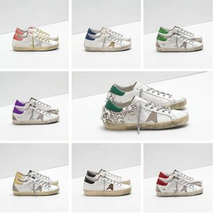 Italienische Marke Sneakers Goldener Ball Star Classic White Distressed Dirty Schuhe Gans Designer Superstar Männer und Frauen Casual Schuhe G33MS590 PL