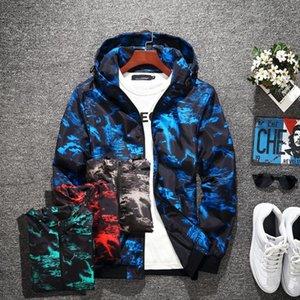 İndirim Satış Tasarımcısı Ceketler Gençlik Moda Gelgit Erkekler S Ceket Kapüşonlu Kamuflaj Lüks Giysi Erkek Hoodies Rahat Spor Mont Açık Windbreak Giyim