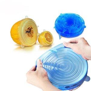I coperchi elasticizzati in silicone riutilizzabili serie 6-pack set da cucina