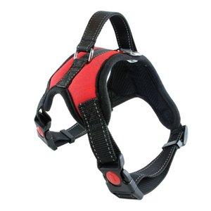 Nylon Heavy Duty Dog Pet Harness Collar K9 Padded Extra Big Large Medium Small Dog Harnesses vest Husky Dogs Supplies 2123 V2