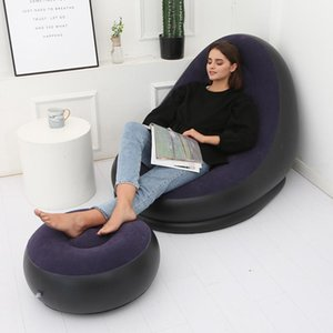 Est Design Garden Sofas Lazy Bag Inflatable Air Sofa Beach Bed Lounger Mattres Sleeping Bags
