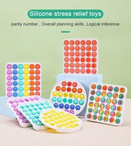 Décompression Push Pop It Fidget Toy Pioneer Jouet Coloré ABS Sensory Jouets Sensorial Rainbow Bubble Anxiété Soulagement de stress pour Enfants Enfants CPA
