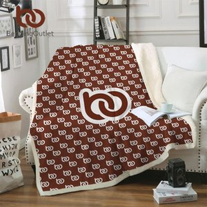 Blankets BeddingOutlet Custom Made Throw Blanket Print On Demand Sherpa For Bed POD Customized DIY Plush Thin Quilt Drop