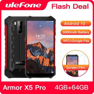 Ulefone Armor X5 Pro Android 10.0 Red Waterproof Smartphone 4GB+64GB Cell Phones NFC 4G LTE Mobile Phone