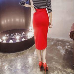 Bandage Women Skirt Long Sexy Pencil Skirts Womens Office Black High Waist Zipper Causal Slim Ladies lz1581