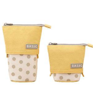 Pencil Cases Kawaii Case Canvas Zipper Large Capacity Cute Box Portable Storage Bag School Supplies Japanese Stationery