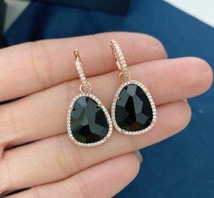Tribal Jewelry personality fashion Dangle Earrings Vintage Asymmetric Geometric Black Stone Chandelier Earring Boho Earing for Women