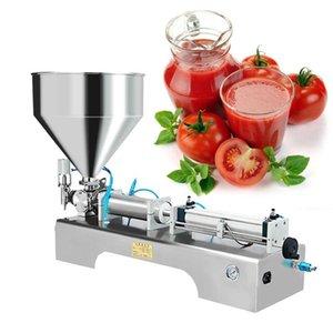 10-5000 ml Halbautomatische Flüssigkeit / Paste Füllmaschine Schokoladensauce Gel-Paste-Prozessoren Lebensmittel
