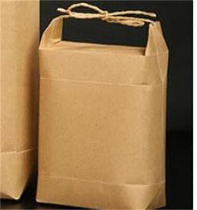 100 adet Yeni Ürün Pirinç Kağıt Ambalaj / Çay Ambalaj Çantası / Kraft Kağıt Torba Gıda Depolama Ayakta Kağıt 431 S2