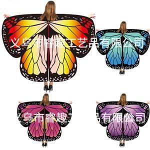 Lenços Halloween Hot Cape Props Decoração Dança Butterfly Shawl