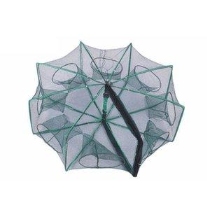 Peschereccio Net Shrimp Cage Nylon Pieghevole Pesce Pesce Trappola Cast Pieghevole Accessori per la rete