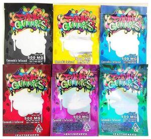 Dank Gummies Bag Edibles bags Packaging Worms 500MG Edibles Bears Cubes Gummy bags dgdfch