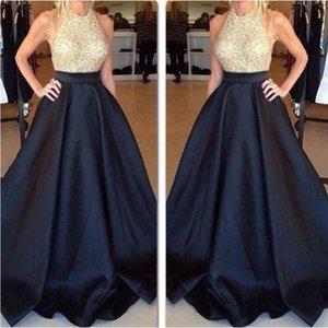 High Waist Long Prom Skirt Custom Made Black Pleated Satin Women Skirts Evening Party Gown Vintage Maxi Saia