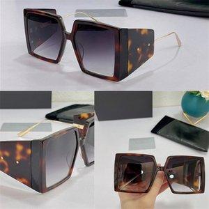 08038335 Diseño de moda Mujeres Gafas de sol grandes Marco cuadrado Gafas de alta calidad Protección UV Eyewear Avant-Garde Style viene con paquete