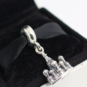 100% 925 Sterling Silver Thread Core St. Basil's Cathedral Dangle Charm Bead Fits European Pandora Jewelry Bracelets Necklaces & Pendant