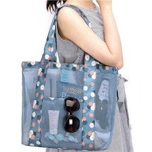 Outdoor Travel Storage Bags Women Ladies Beach Net Shoulder Bag Multi-functional Large Capacity Home Clothing Handbag