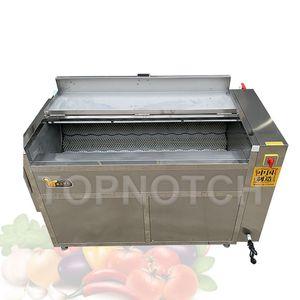 Pepper Tomato Potato Ginger Pumpkin Washers Seafood Vegetable Soft Brush Washing Peeling Machine