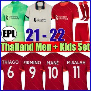21 22 قمم كرة القدم جيرسي المنزل أحمر كرة القدم قميص الرجال عدة 2021 2022 أطفال مجموعات الجوارب