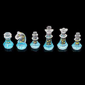 Molde de silicona para resina Internacional Forma de ajedrez de silicona RESOLUCIÓN UV DIY Clay Epoxi Resina Colgante moldes para joyería 237 V2