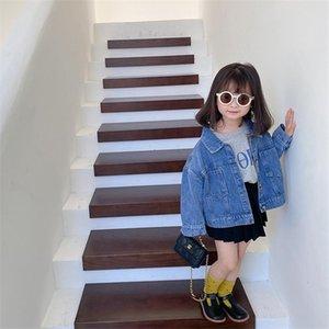 Niños Girls Top Spring Otoño Chaqueta Casual Jeans Abrigos Poco Denim Outerwear Disfraz 12M-8Y Soporte Venta al por mayor Chaquetas
