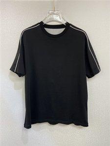 Último listin verano para hombre camiseta mujer diseñador camisetas Casual tees de las letras blancas y negras Imprimir Mangas cortas Top Flores de venta