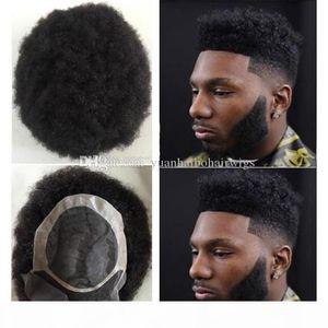 Afro Hair Mens Wig 6*8
