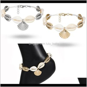 Bohemian Natural Shell Anklet Bracelet Charm Scallop Barefoot Sandals On Foot Jewelry For Women Ankle Chain Gifts Swqip Vljne