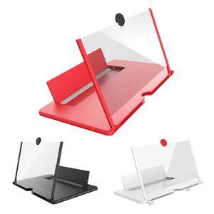 Inch 3D HD Mobile Phone Screen Magnifier Enlarger Magnifying Video Projector Bracket Foldable Desktop Holder Cell Mounts & Holders