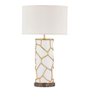 China Guzhen chandelier luxury arts marble base table lamp for hotel
