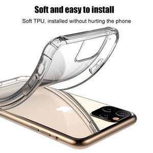 Shockproof Airbag Soft TPU Back Cover Case For iPhone 11 Pro Max XS Max XR X 11pro Anti-Scratch Phone Case Airbag Full Cover