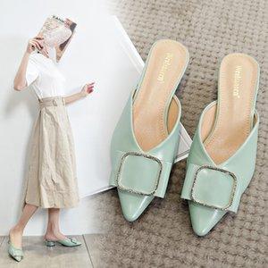 Famtiyaa Mules Shoes Damies Slides Роскошная мода заостренный носок тапочка женщина летние женщины обувь дома открытый sdgoidghsaiogh