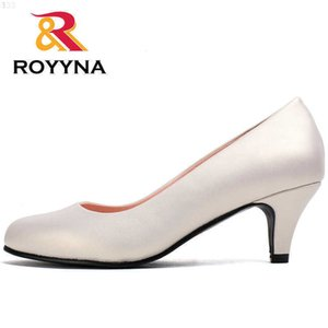 ROYYNA Spring Autumn Styles Pumps Women Big Size Fashion Sexy Round Toe Sweet Colorful Soft Shoes 210610 JEJ144Q5