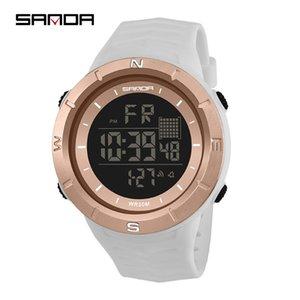 Цифровые часы для мужчин, дамы Светодиодные часы Спортивные Водонепроницаемые женские наручные часы Дайвинг мужская Нержавеющая сталь Кварцевые часы Пара